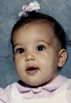 Kim Kardashian as baby