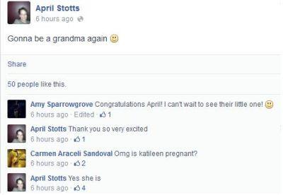 Catelynn Pregnant April