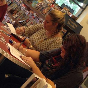 Kail and Amber at their book signing in Louisville on Friday.