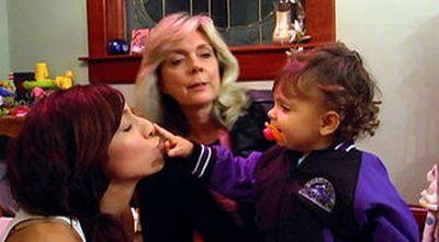 Debra, Farrah and Sophia filming 'Teen Mom'
