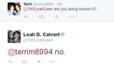 Leah revealed last night that she's done with 'Teen Mom 2.'