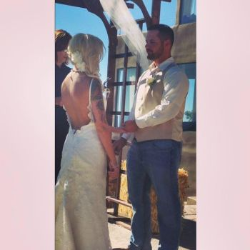 Lindsey posted this photo of her wedding ceremony.